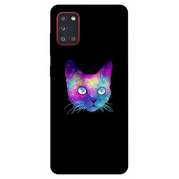 Husa Silicon Soft Upzz Print Samsung Galaxy A31 Model Neon Cat imagine itelmobile.ro 2021
