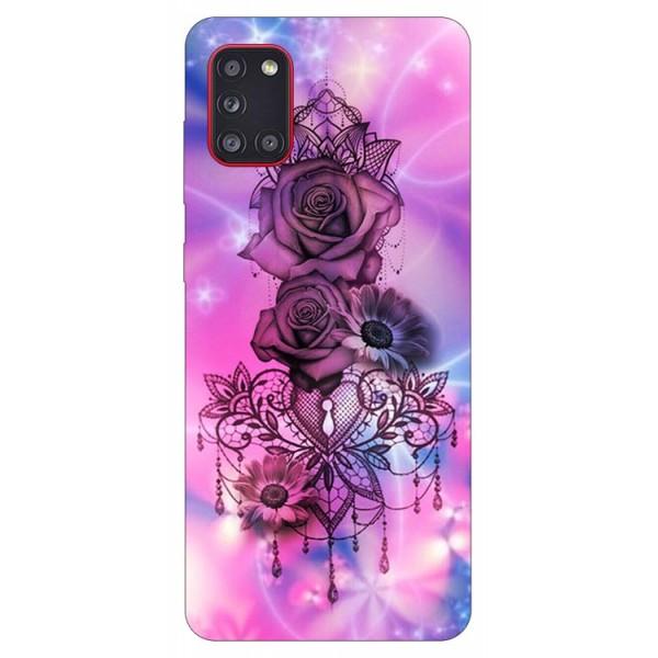 Husa Silicon Soft Upzz Print Samsung Galaxy A31 Model Neon Rose imagine itelmobile.ro 2021
