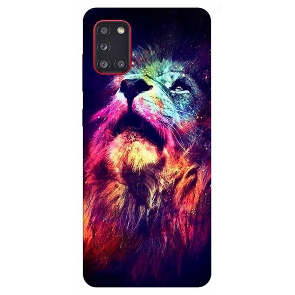 Husa Silicon Soft Upzz Print Samsung Galaxy A31 Model Neon Lion imagine itelmobile.ro 2021