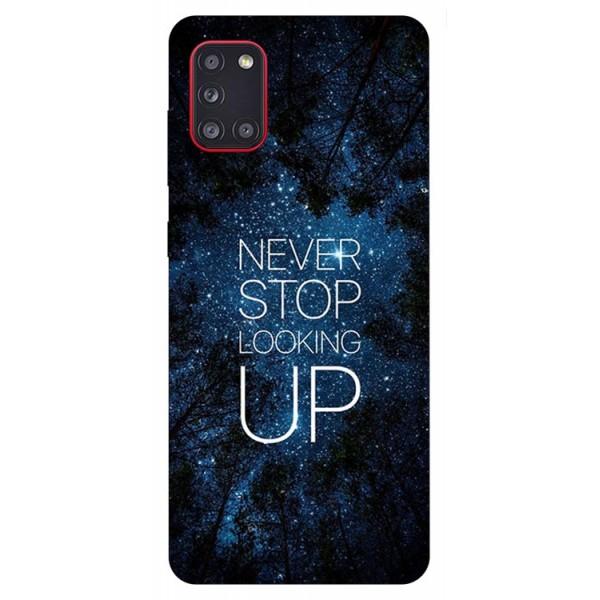 Husa Silicon Soft Upzz Print Samsung Galaxy A31 Model Never Stop imagine itelmobile.ro 2021