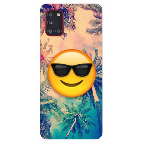 Husa Silicon Soft Upzz Print Samsung Galaxy A31 Model Smile imagine itelmobile.ro 2021