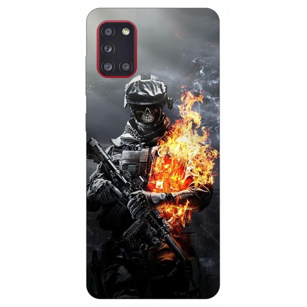 Husa Silicon Soft Upzz Print Samsung Galaxy A31 Model Soldier imagine itelmobile.ro 2021