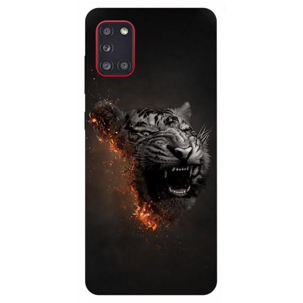 Husa Silicon Soft Upzz Print Samsung Galaxy A31 Model Tiger imagine itelmobile.ro 2021
