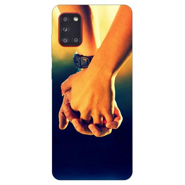 Husa Silicon Soft Upzz Print Samsung Galaxy A31 Model Together imagine itelmobile.ro 2021