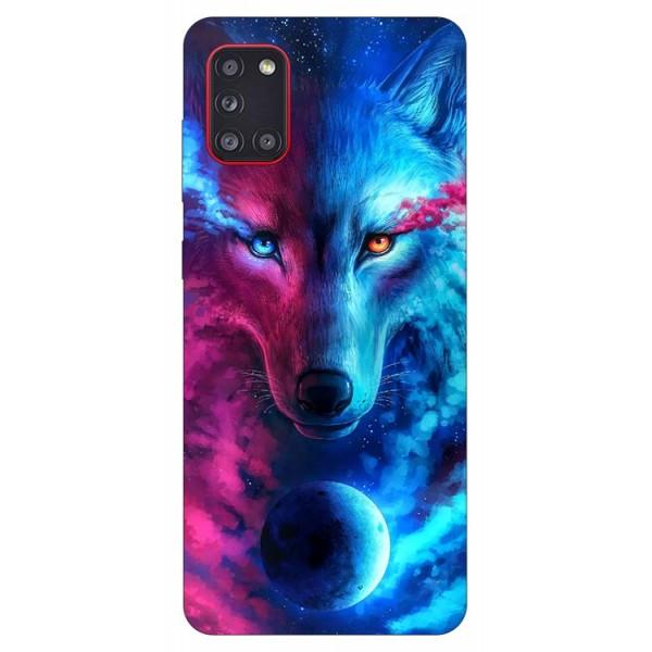Husa Silicon Soft Upzz Print Samsung Galaxy A31 Model Wolf imagine itelmobile.ro 2021