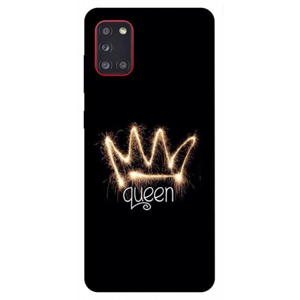 Husa Silicon Soft Upzz Print Samsung Galaxy A31 Model Queen imagine itelmobile.ro 2021