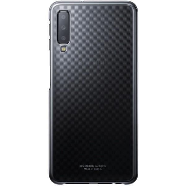 Husa Plastic Originala Samsung Galaxy A7 2018 Gradation Negru -ef-aa750cb imagine itelmobile.ro 2021