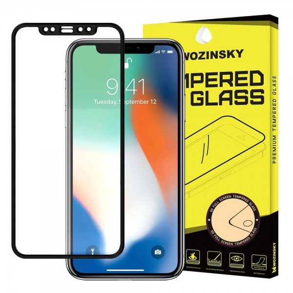 Folie Sticla Securizata Wozinsky Full Cover Pentru iPhone 12 Pro Max ,transparenta Cu Margine Neagra imagine itelmobile.ro 2021