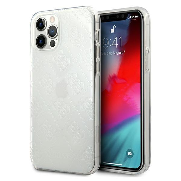 Husa Premium Originala Guess iPhone 12 / iPhone 12 Pro, Colectia 4g Pattern , Transparenta - Guhcp12m3d4gtr imagine itelmobile.ro 2021