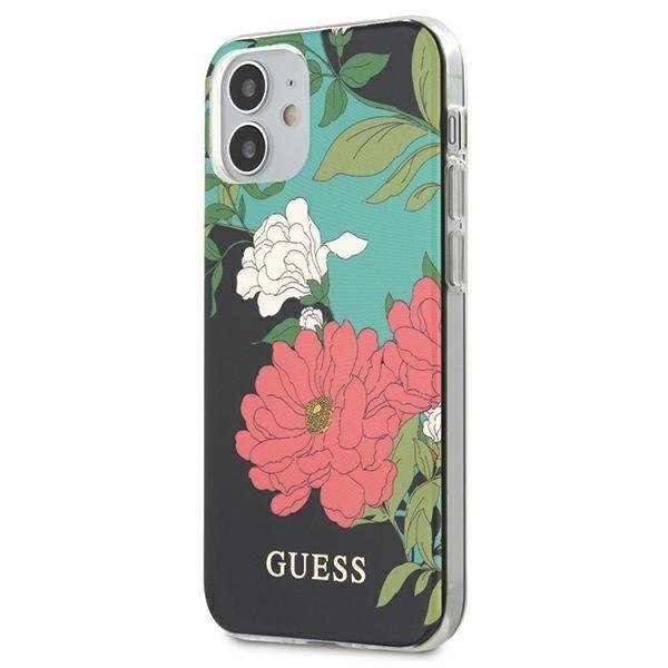 Husa Premium Originala Guess iPhone 12 Mini , Colectia Flower Nr1 - Guhcp12simlfl01 imagine itelmobile.ro 2021
