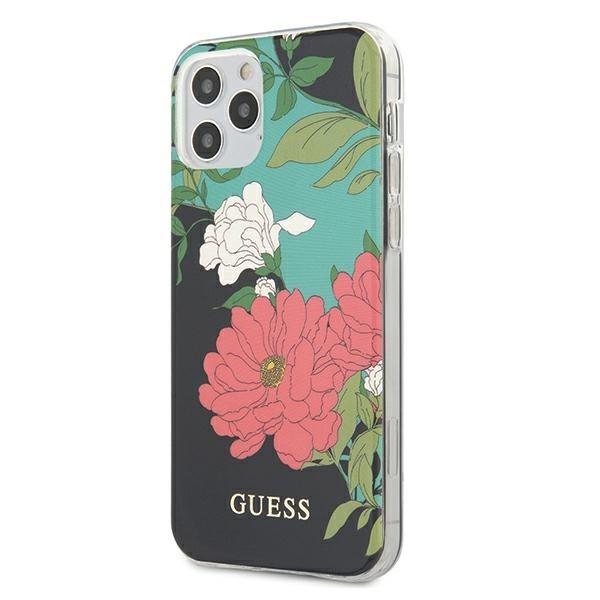 Husa Premium Originala Guess iPhone 12 / iPhone 12 Pro , Colectia Flower Nr1 - Guhcp12mimlfl01 imagine itelmobile.ro 2021