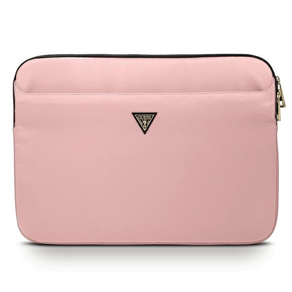 Husa Premium Originala Guess Sleeve Laptop / Macbook 13 Inch Roz Triangle Logo - Gucs13ntmllp imagine itelmobile.ro 2021
