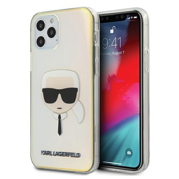 Husa Premium Karl Lagerfeld iPhone 12 / iPhone 12 Pro ,colectia Multicolor Iridescent Karl Head - Klhcp12mpckhml imagine itelmobile.ro 2021