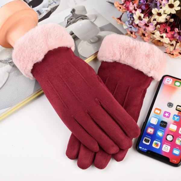 Manusi Touchscreen Upzz Soft Winter - Bordo