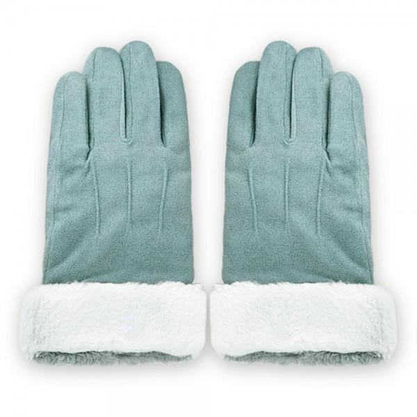 Manusi Touchscreen Upzz Soft Winter - Albastru Deschis imagine itelmobile.ro 2021