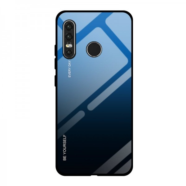 Husa Spate Upzz Gradient Glass Pentru Huawei P30 Lite, Spate Sticla Rezistenta , Negru Albastru imagine itelmobile.ro 2021