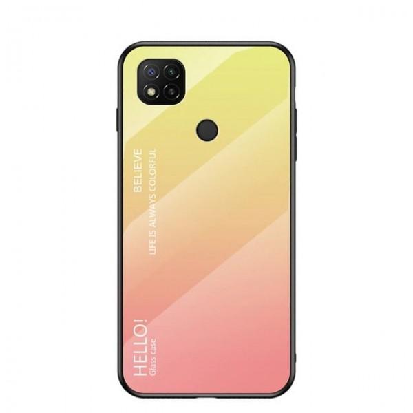 Husa Spate Upzz Gradient Glass Pentru Xiaomi Redmi 9c, Spate Sticla Rezistenta, Roz imagine itelmobile.ro 2021