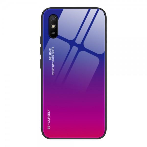 Husa Spate Upzz Gradient Glass Pentru Xiaomi Redmi 9a, Spate Sticla Rezistenta, Roz Mov imagine itelmobile.ro 2021