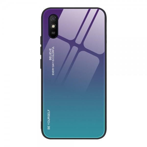 Husa Spate Upzz Gradient Glass Pentru Xiaomi Redmi 9a, Spate Sticla Rezistenta, Verde Mov imagine itelmobile.ro 2021