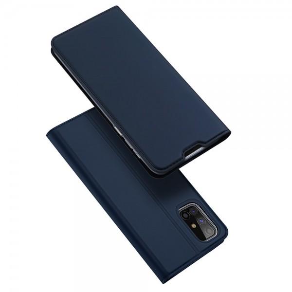 Husa Flip Cover Premium Duxducis Skinpro Samsung Galaxy M31s, Albastru imagine itelmobile.ro 2021
