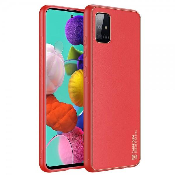 Husa Premium Duxducis Yolo Pentru Samsung Galaxy A51, Rosu imagine itelmobile.ro 2021