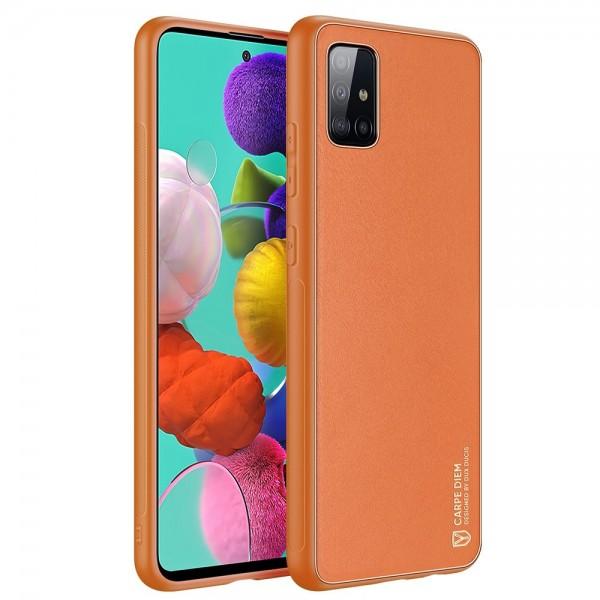 Husa Premium Duxducis Yolo Pentru Samsung Galaxy A51, Portocaliu imagine itelmobile.ro 2021