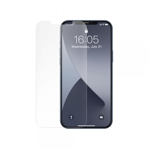 Set 2 X Folie Sticla Securizata Premium Baseus Pentru iPhone 12 Pro Max, Matta Transparenta -sgapiph67n-lm02 imagine itelmobile.ro 2021