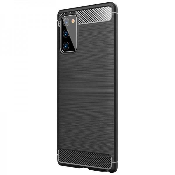 Husa Spate Upzz Carbon Pro Pentru Samsung Galaxy S20 Fe, Silicon, Anti-shock, Negru imagine itelmobile.ro 2021