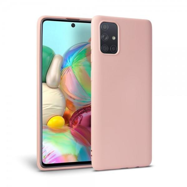 Husa Premium Upzz Liquid Silicon Pentru Samsung Galaxy M51 , Cu Invelis Alcantara La Interior , Roz imagine itelmobile.ro 2021