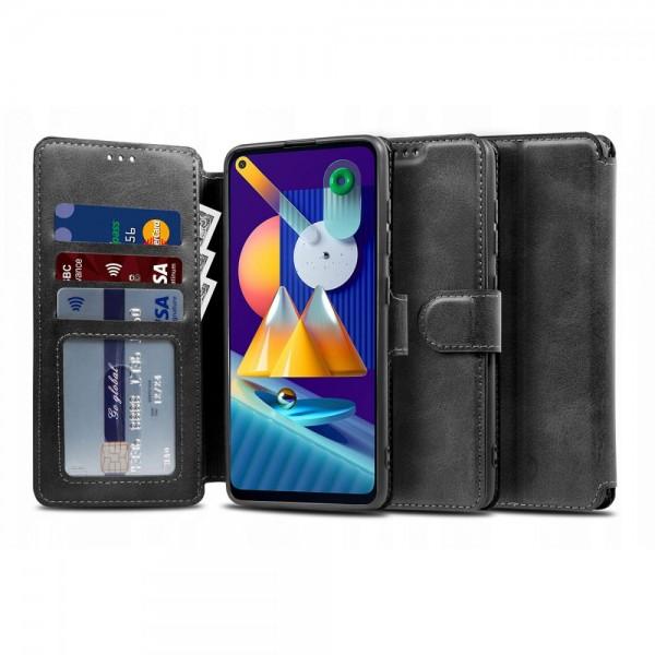 Husa Flip Carte Upzz Tech Wallet Samsung Galaxy M11, Negru imagine itelmobile.ro 2021