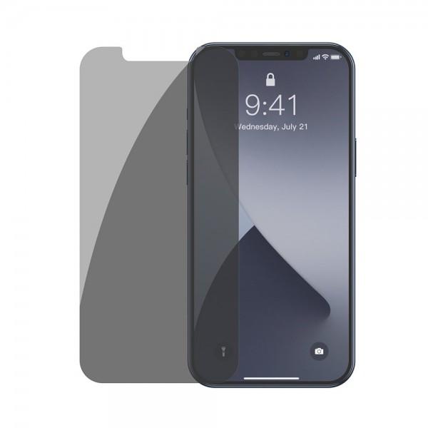 Set 2 X Folie Sticla Securizata Premium Baseus Pentru iPhone 12 / 12 Pro, Privacy Fara Rama -sgapiph61p-lk02 imagine itelmobile.ro 2021