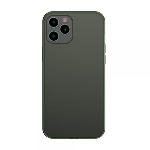 Husa Premium Baseus Cu Spate Sticla Matta Si Rama Din Silicon Pentru iPhone 12 Pro Max, Verde imagine itelmobile.ro 2021