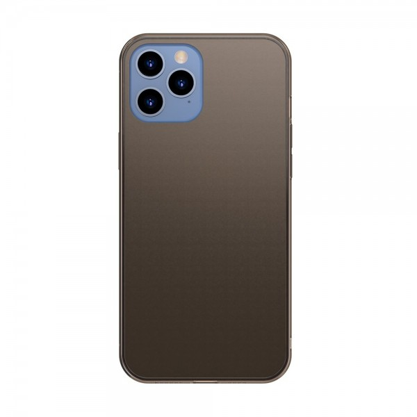 Husa Premium Baseus Cu Spate Sticla Matta Si Rama Din Silicon Pentru iPhone 12 Pro Max, Negru imagine itelmobile.ro 2021