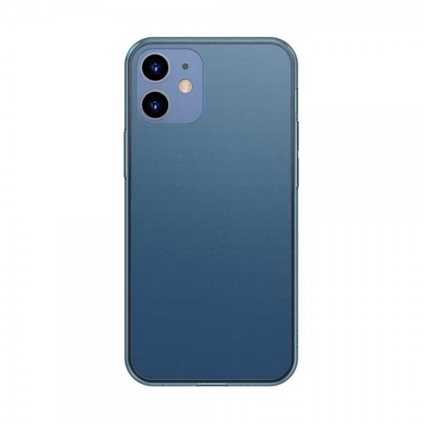Husa Premium Baseus Cu Spate Sticla Matta Si Rama Din Silicon Pentru iPhone 12 Mini Navy Blue imagine itelmobile.ro 2021