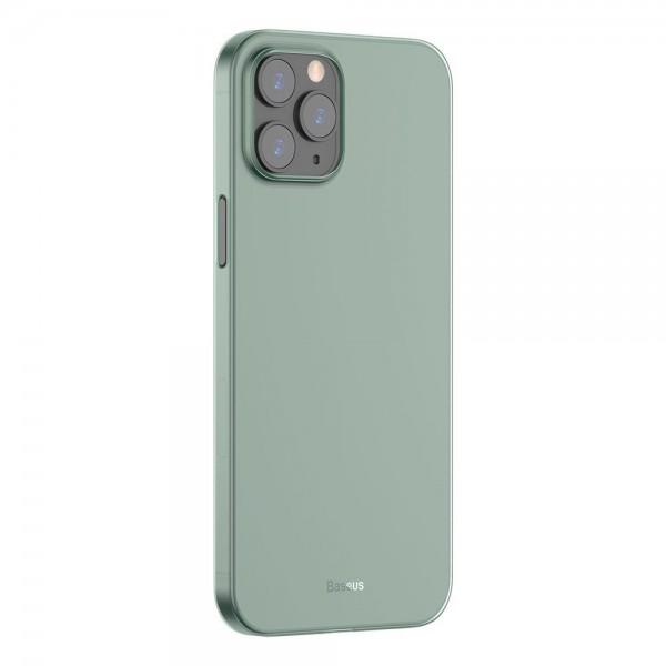 Husa Premium Baseus Wing Pentru iPhone 12 Pro Max, Ultra Subtire 0,4mm, Plastic Verde imagine itelmobile.ro 2021