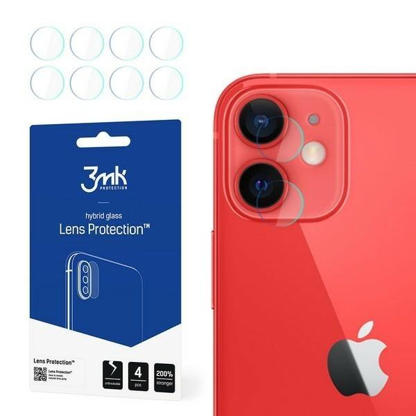 Set 4 Buc Folie Nano Glass Pentru Camera 3mk iPhone 12, Transparenta imagine itelmobile.ro 2021