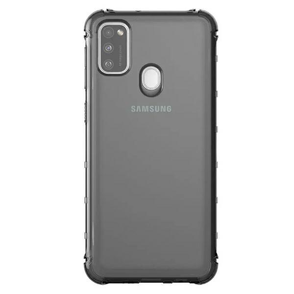 Husa Spate Araree Samsung Pentru Samsung Galaxy M21 ,silicon Antishock Fumuriu imagine itelmobile.ro 2021