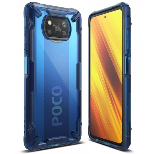 Husa Premium Ringke Fusion X Compatibila Cu Xiaomi Poco X3 Nfc, Albastru imagine itelmobile.ro 2021