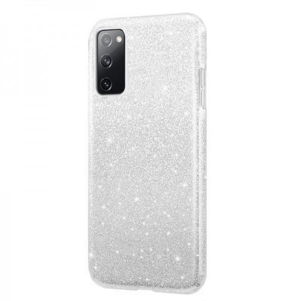 Husa Spate Upzz Shiny Lux Samsung Galaxy S20 Fe, Silver imagine itelmobile.ro 2021