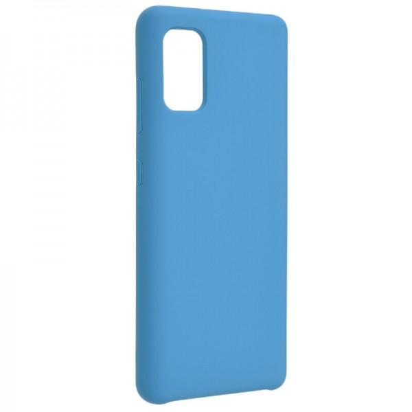 Husa Premium Upzz No Logo Soft Silicon Compatibila Cu Huawei Y5p ,invelis Alcantara La Interior, Albastru imagine itelmobile.ro 2021