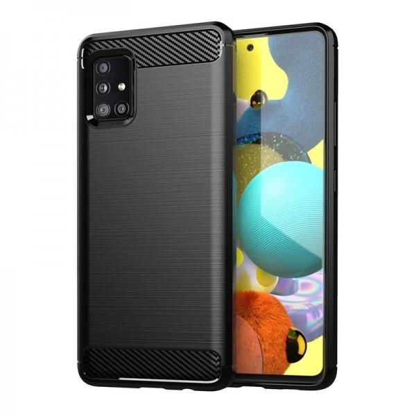 Husa Spate Upzz Carbon Pro Samsung Galaxy A31, Negru imagine itelmobile.ro 2021