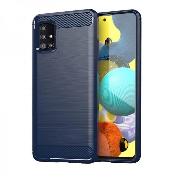 Husa Spate Upzz Carbon Pro Samsung Galaxy A31, Albastru imagine itelmobile.ro 2021
