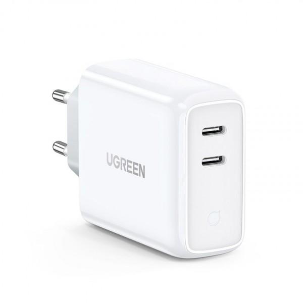 Incarcator Retea Ugreen Fast Charger 4.0, Iesire Dual 2 X Type-c 36w ,compatibil Cu iPhone 12 /12 Pro / 12 Pro Max ,samsung imagine itelmobile.ro 2021