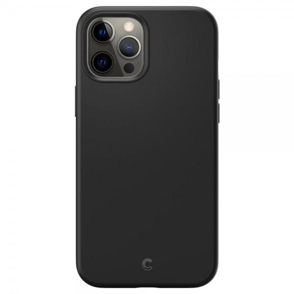 Husa Premium Originala Spigen Cyrill Silicone iPhone 12 Pro Max, Negru - Acs01652 imagine itelmobile.ro 2021
