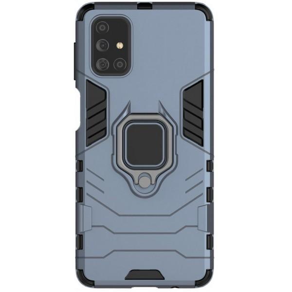 Husa Spate Upzz Ring Armor Hybrid Samsung Galaxy M31s, Albastru imagine itelmobile.ro 2021
