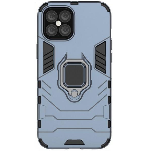 Husa Spate Upzz Ring Armor Hybrid iPhone 12 Pro Max, Albastru imagine itelmobile.ro 2021
