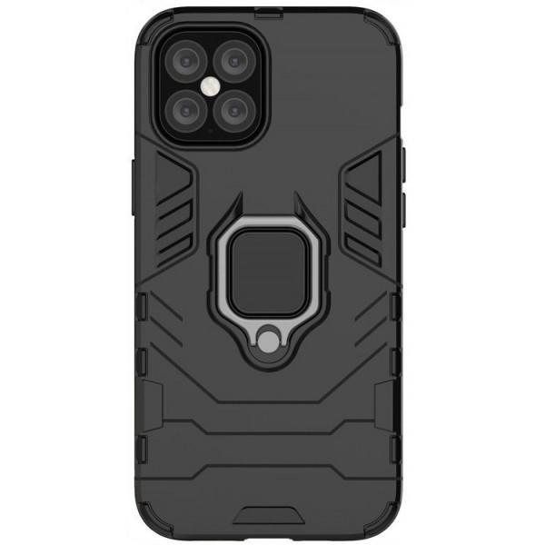 Husa Spate Upzz Ring Armor Hybrid iPhone 12 / iPhone 12 Pro, Negru imagine itelmobile.ro 2021