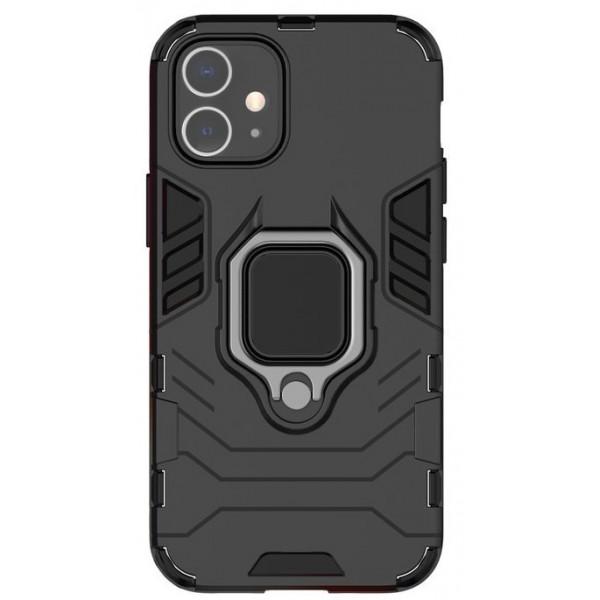 Husa Spate Upzz Ring Armor Hybrid iPhone 12 Mini, Negru imagine itelmobile.ro 2021