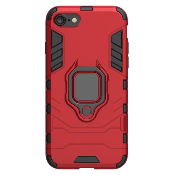 Husa Spate Upzz Ring Armor Hybrid iPhone 7 / 8 / Se 2020, Rosu imagine itelmobile.ro 2021