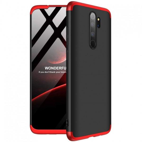 Husa 360 Grade Upzz Protection Xiaomi Redmi Note 8 Pro Negru Rosu imagine itelmobile.ro 2021
